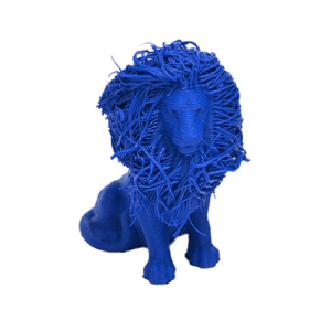 Lion printed with ABS material