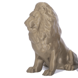 Lion 3D printed with PLA